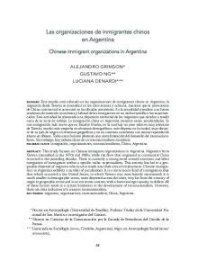 Las organizaciones de inmigrantes chinos en Argentina