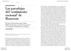 Las paradojas del sentimiento racional de Rousseau