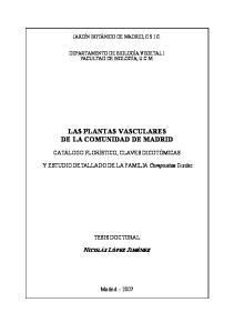 LAS PLANTAS VASCULARES DE LA COMUNIDAD DE MADRID