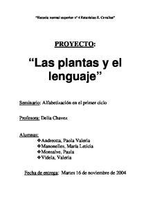 Las plantas y el lenguaje