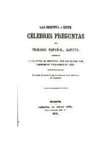 LAS PREGUNTAS. de ZAPATA
