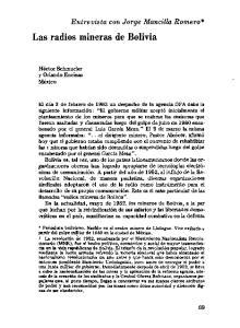 Las radios mineras de Bolivia