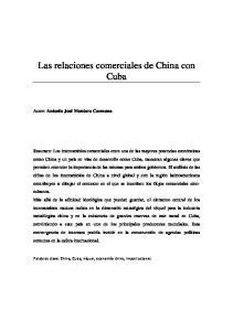 Las relaciones comerciales de China con Cuba