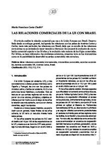 LAS RELACIONES COMERCIALES DE LA UE CON BRASIL