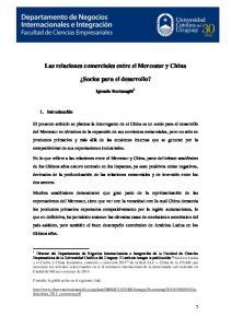 Las relaciones comerciales entre el Mercosur y China. Socios para el desarrollo?