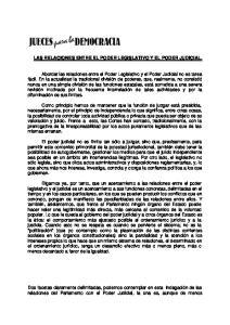 LAS RELACIONES ENTRE EL PODER LEGISLATIVO Y EL PODER JUDICIAL
