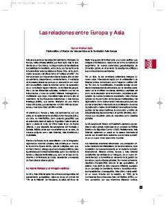 Las relaciones entre Europa y Asia