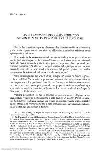 LAS RELACIONES EPISCOPADO-PRIMADO SEGÚN D. MARTN PÉREZ DE AYALA ( )