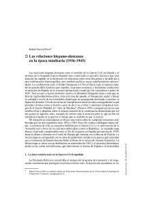 Las relaciones hispano-alemanas en la época totalitaria ( )