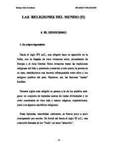 LAS RELIGIONES DEL MUNDO (II)