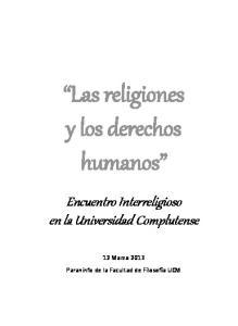Las religiones y los derechos humanos