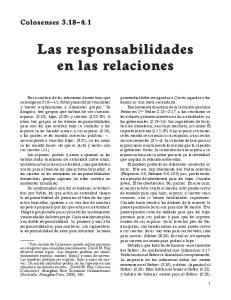 Las responsabilidades en las relaciones