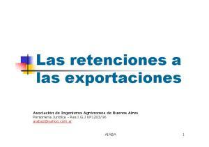 Las retenciones a las exportaciones
