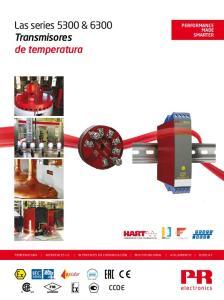Las series 5300 & 6300 Transmisores de temperatura