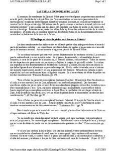 LAS TABLAS ESCONDIDAS DE LA LEY