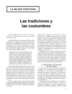 Las tradiciones y las costumbres