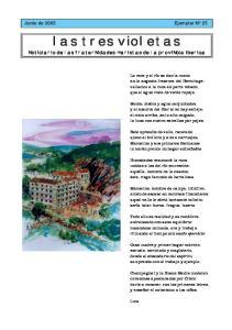 las tres violetas Noticiario de las fraternidades maristas de la provincia iberica