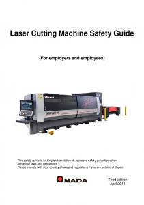 Laser Cutting Machine Safety Guide (For employers and employees)