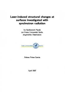 Laser-induced structural changes at surfaces investigated with synchrotron radiation