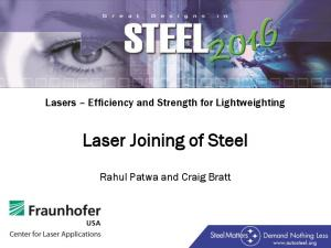 Laser Joining of Steel
