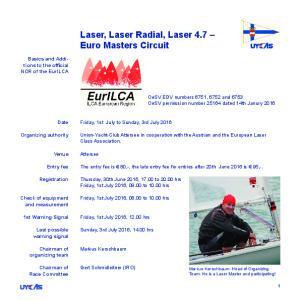 Laser, Laser Radial, Laser 4.7 Euro Masters Circuit