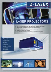 LASER PROJECTORS. Automotive Composites Textile Concrete Wood & Stone Logistics Assembly