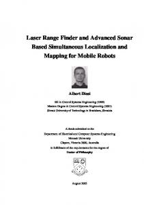 Laser Range Finder and Advanced Sonar Based Simultaneous Localization and Mapping for Mobile Robots