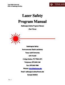Laser Safety Program Manual