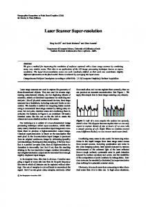 Laser Scanner Super-resolution