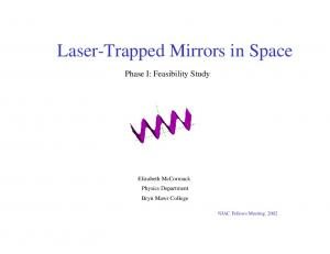 Laser-Trapped Mirrors in Space