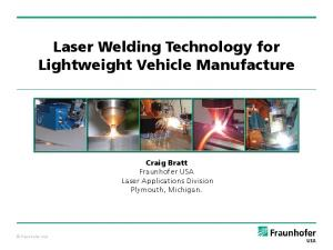 Laser Welding Technology for Lightweight Vehicle Manufacture