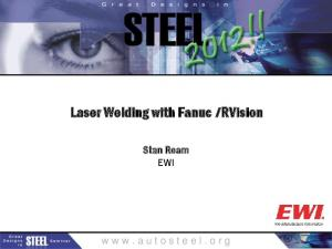 Laser Welding with Fanuc i RVision