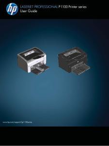 LASERJET PROFESSIONAL P1100 Printer series User Guide