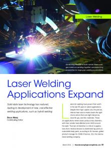 Lasers for welding have proven their worth. Laser Welding. Applications Expand. Laser Welding