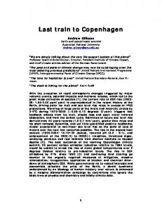 Last train to Copenhagen