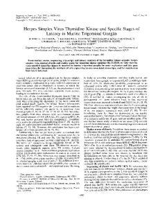 Latency in Murine Trigeminal Ganglia