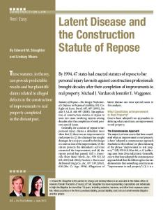 Latent Disease and the Construction Statute of Repose