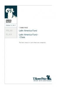 Latin America Fund Latin America Fund I Class