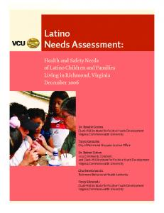 Latino Needs Assessment: