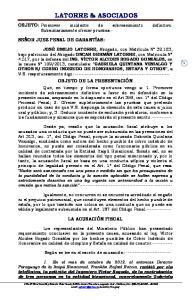 LATORRE & ASOCIADOS OBJETO DE LA PRESENTACIÓN