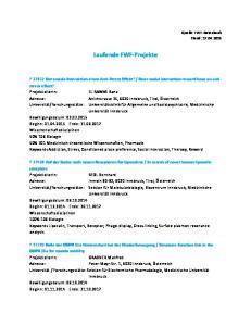 Laufende FWF-Projekte