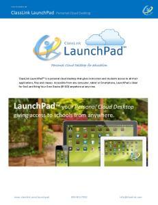 LaunchPad your Personal Cloud Desktop