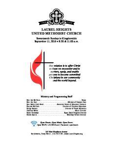 LAUREL HEIGHTS UNITED METHODIST CHURCH