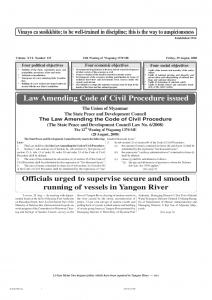 Law Amending Code of Civil Procedure issued