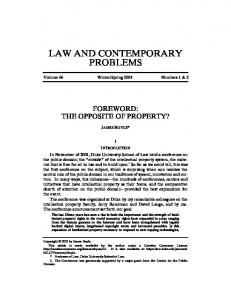 LAW AND CONTEMPORARY PROBLEMS