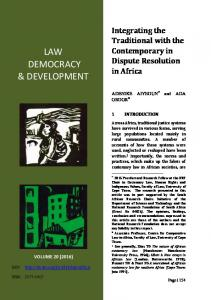 LAW DEMOCRACY & DEVELOPMENT