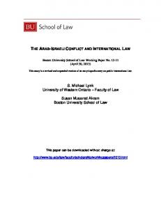 LAW. Faculty. of Law. (April 30, 2013) ) This paper