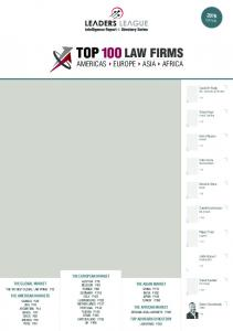 LAW FIRMS AMERICAS EUROPE ASIA AFRICA