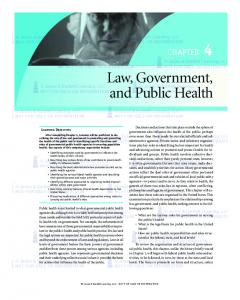 Law, Government, CHAPTER 4. Jones & Bartlett Learning, LLC. Jones & Bartlett Learning, LLC. NOT FOR SALE OR United DISTRIBUTION