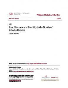 Law, Literature and Morality in the Novels of Charles Dickens